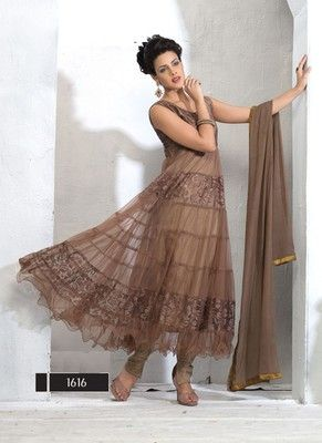New Collection In Designer Brown Anarkali Suits