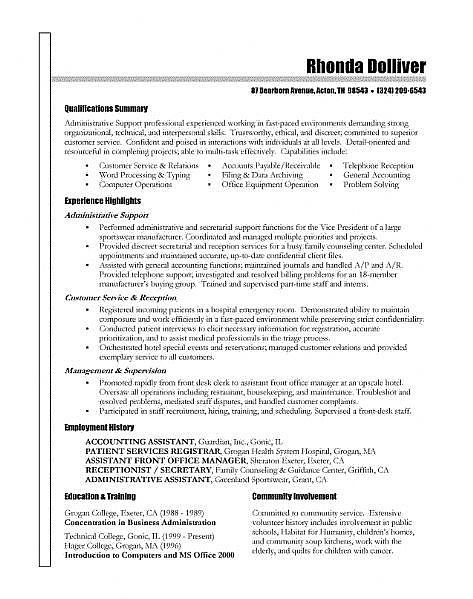The 25+ best Resignation letter ideas on Pinterest Letter for - medical front office resume