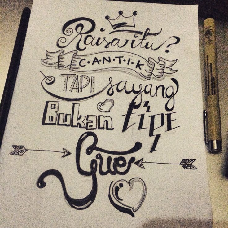 Not My Type - Hand lettering