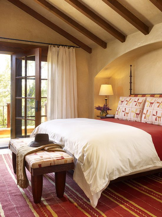 205 best western decor images on pinterest haciendas for Mediterranean style bedroom ideas