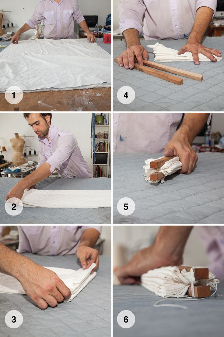 Steps to shibori dye. #DIY