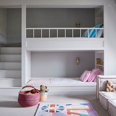 Kids' Bedroom - An open-plan layout full of intriguing design details in this Victorian house at Oxford - real homes on HOUSE by House & Garden.