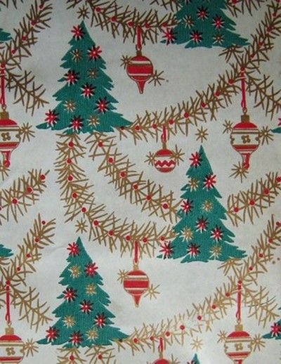 1361 best christmas vintage gift wrap images on for Best christmas wrapping paper