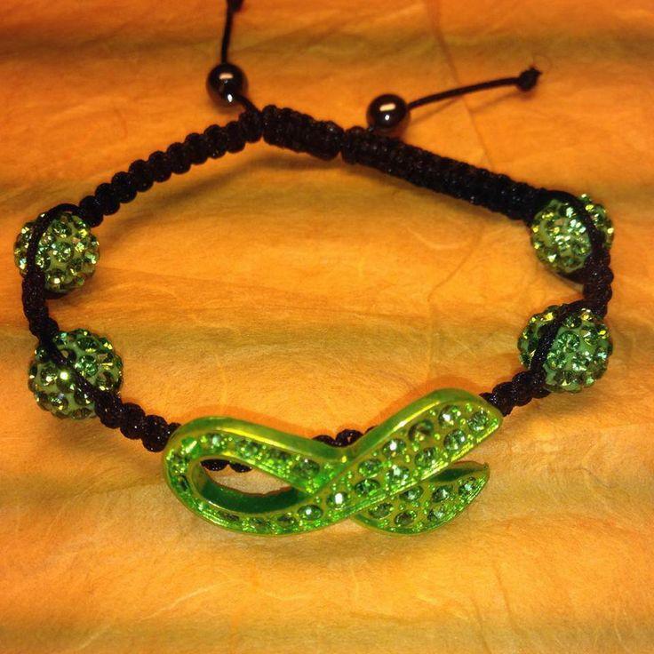 Bracelet Shamballa Ruban Vert (don d'organe) - bracelet - Boutique de Minuit - Fait Maison ...