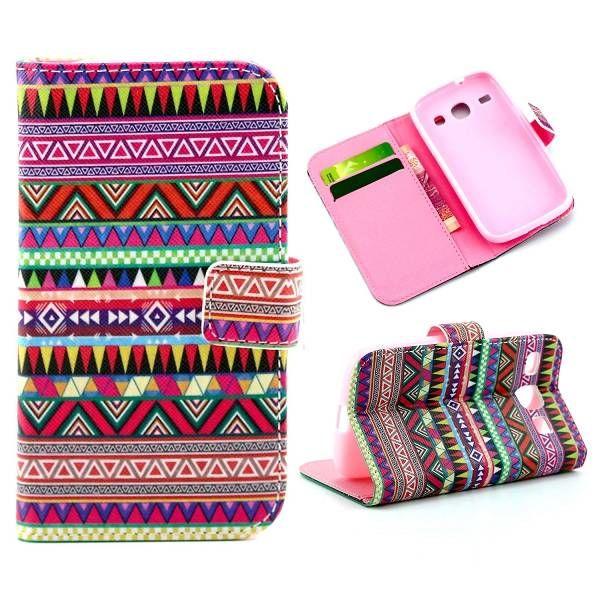 Kleurrijke tribal bookcase voor Samsung Galaxy Core
