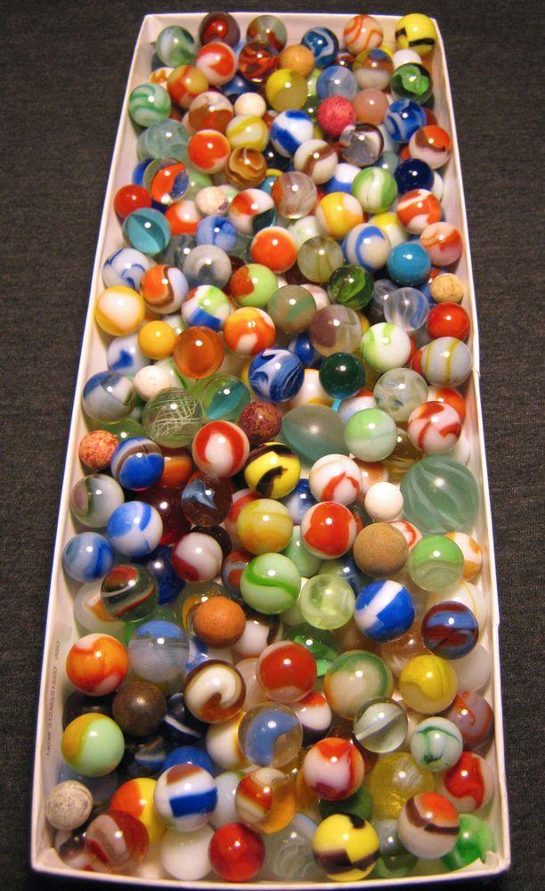 Vintage Antique Marbles 264 Akro Peltier Marble King