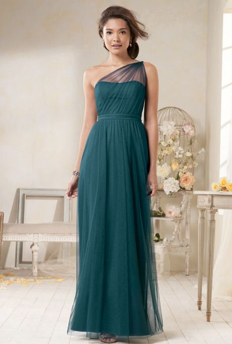 Not Completely Sold On The Colour But I'm In Love With This One-Shoulder Design. -Modern Vintage by Alfred Angelo