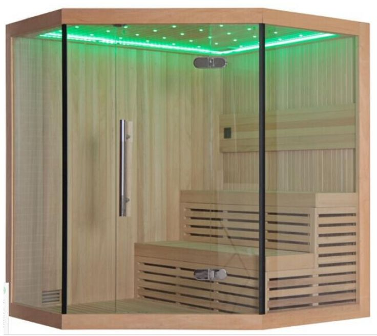 Monalisa M-6036 dry steam sauna romantic sauna house salon beauty saunas Western style sauna enclosure indoor sauna room with LED Dimension  1800*1800*2000mm 2000*2000*2000mm