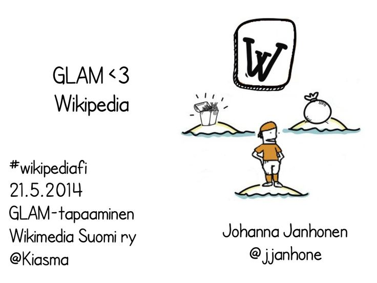 Wikipedia glam kiasma by Johanna Janhonen via slideshare