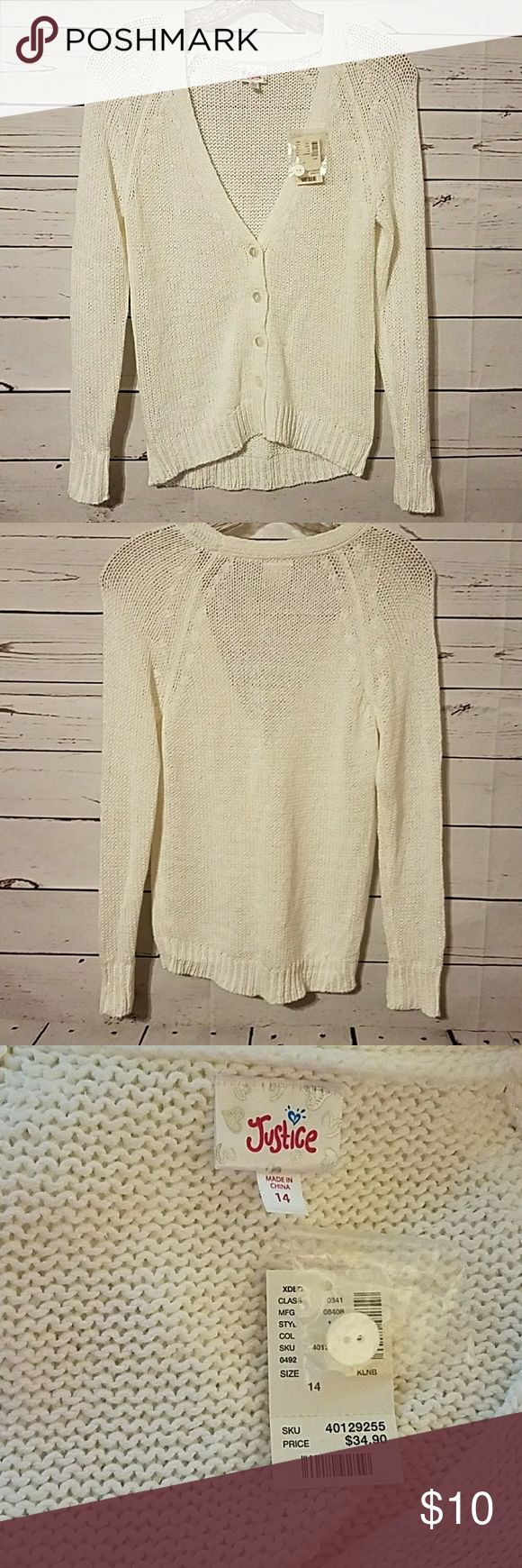 Justice Sweater Cardigan Clothes Design Fashion Design Outfits