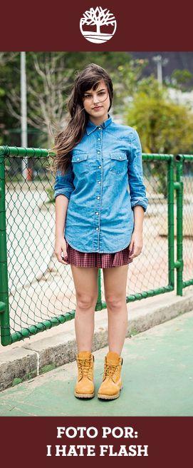 Mais uma ideia de look feminino com nossas Yellow Boots. Foto por I Hate Flash.