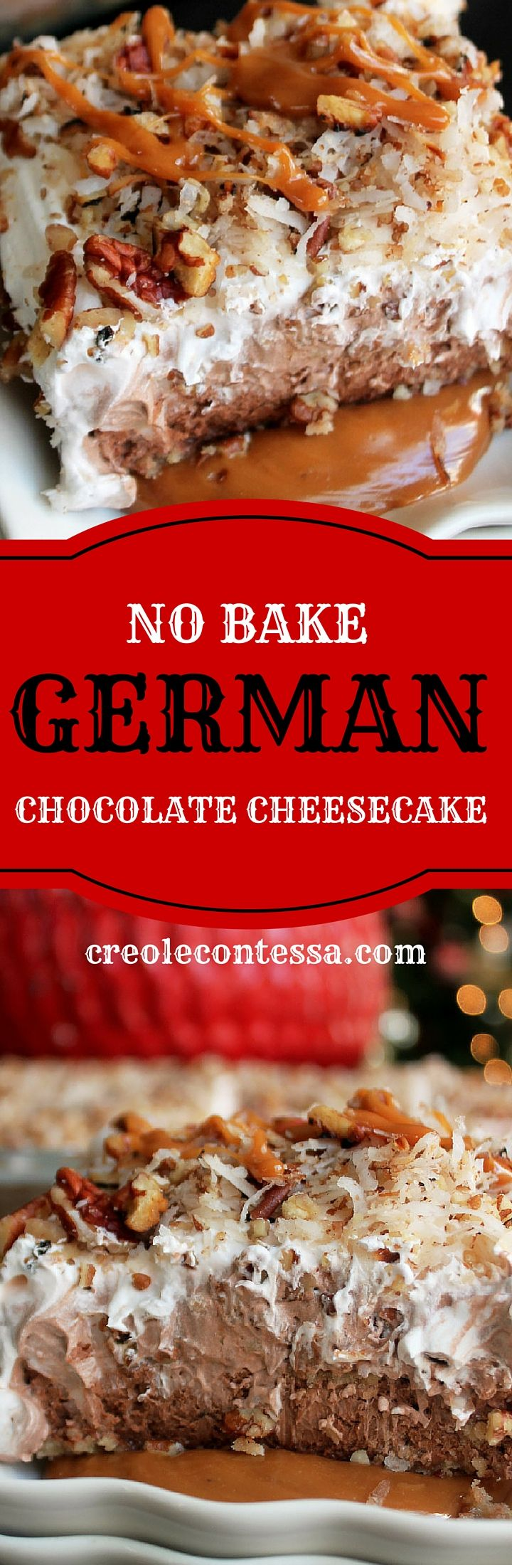 No Bake German Chocolate Cheesecake-Creole Contessa #SweetenTheSeason #CollectiveBias #ad