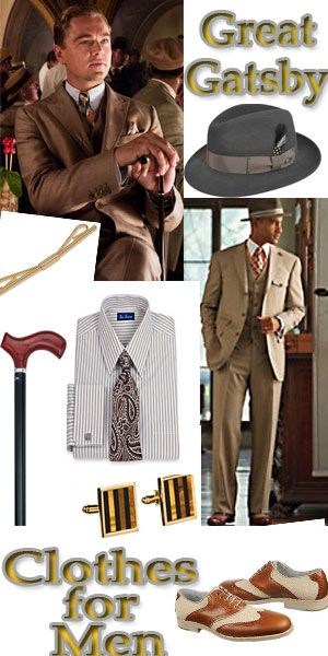 How to Dress like the Great Gatsby- Click to learn and shop for 1920s style mens clothing.