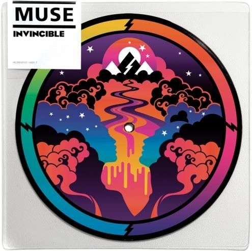"2007 Muse - Invincible (7"") [Warner Bros. 514420934-7] illustration by Jasper Goodall #albumcover"