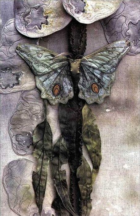 """Annemieke Mein - текстильный """"скульптор"""" из Австралии. Ее картины, панно, одежда с элементами флоры и фауны - это изображения с научной точностью и невероятным…"""
