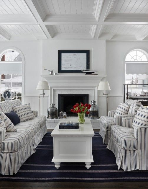 navy and white living room beach house ideas pinterest. Black Bedroom Furniture Sets. Home Design Ideas