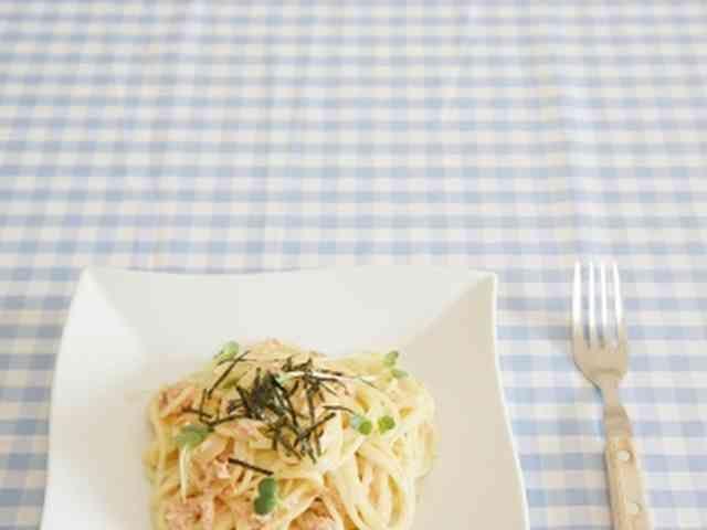 鮭フレーク♪和風サーモンクリームパスタ♪の画像