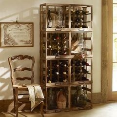 eclectic wine racks by Pottery Barn