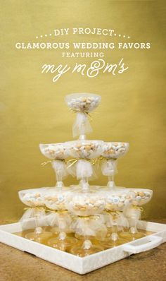 Champagne Wedding Favors from My M&M's! Great idea for a bridal shower or other wedding party! #ad #mymms