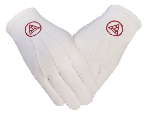 Royal Arch Masonic Symbol in Cotton Gloves | Shop this product here: http://spreesy.com/BespokeTailoredLeather/1216 | Shop all of our products at http://spreesy.com/BespokeTailoredLeather    | Pinterest selling powered by Spreesy.com