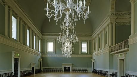 Assembly Rooms, Bath. Jane herself attended the rooms. Known in Jane's time as the Upper Rooms