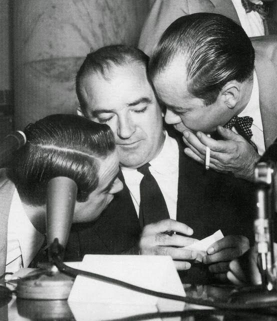 Roy Cohn, General John Medaris, Joe Bonanno, L.M. Bloomfield, theSyndicate and the Mafia.