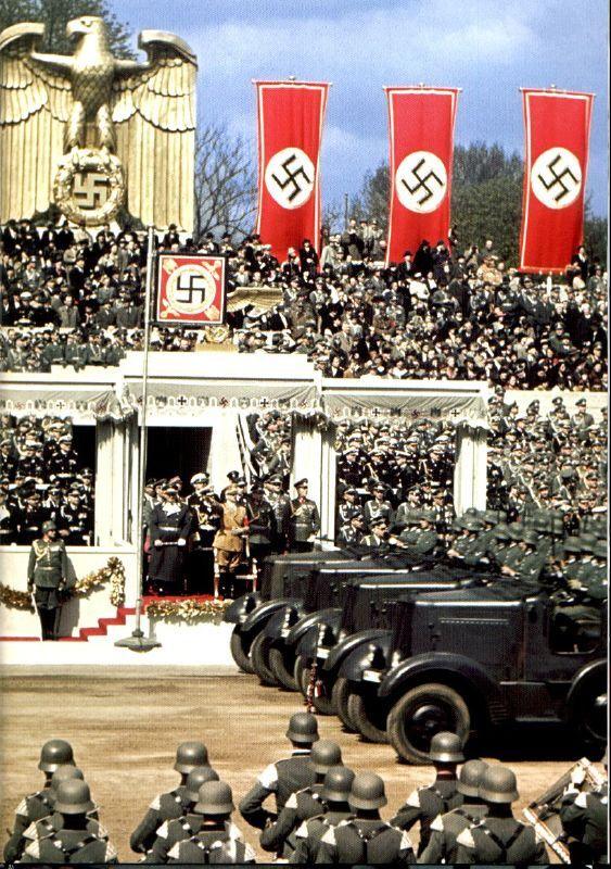 1939, Allemagne, Berlin, Parade du 50ème anniversaire d'Adolf Hitler