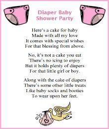 Baby Shower Cake Bag Poems