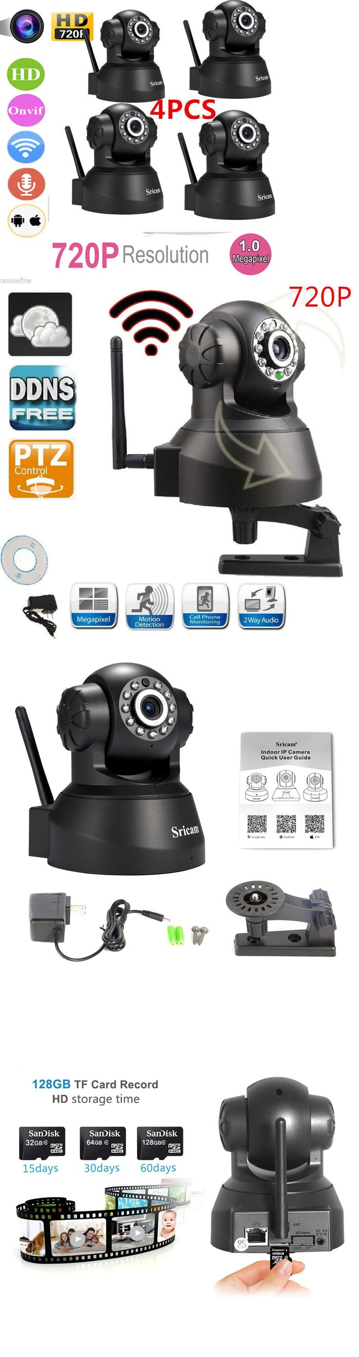 Security Cameras: 4 Oem Set Of Sricam 720P Wireless Ip Camera Wifi Security Night Vision Cam -> BUY IT NOW ONLY: $92.95 on eBay!