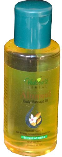 Vedova's Almond Body Massage Oil is an Ayurvedic formulation. This soothing oil is a blend of pure Neem, almond, sesame, Tea tree oil and Lemon grass oils, mixed with Daruhaldi, manjistha extract, to relieve tension & body fatigue. Specially formulated for a full-body spa massage, it smoothes away roughness, dryness & eases aching muscles