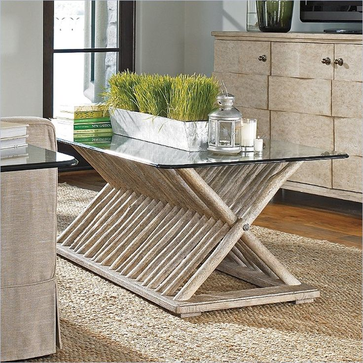 Faux Driftwood Coffee Table: Stanley Furniture Coastal Living Resort Driftwood Flats