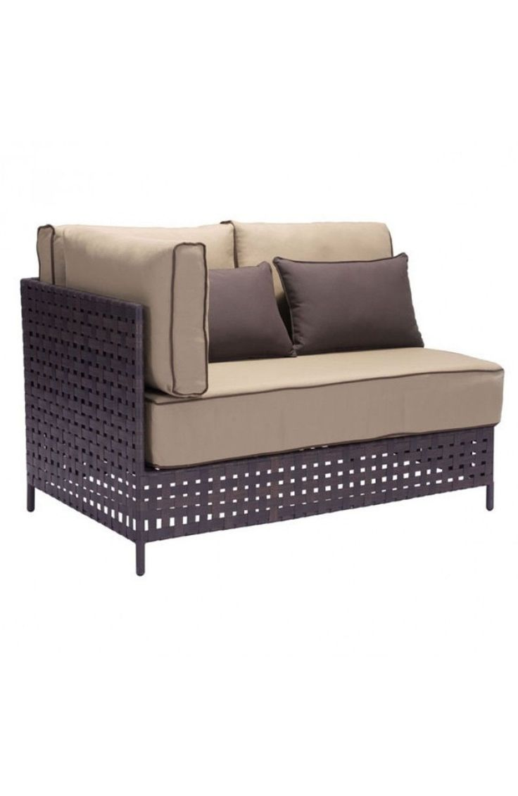 Phoebe beige linen modern chaise lounge see white - Zuo Modern Pinery Left Lhf Corner Chaise Beige 703639