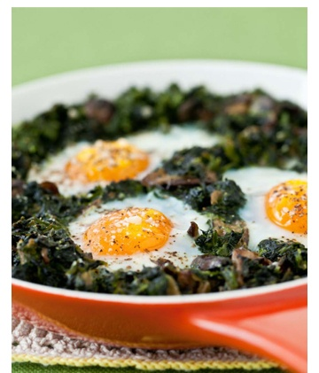 Baked eggs with mushrooms and spinach is the perfect side dish! We have the recipe in our cook book right here: http://enjoyeggsmore.co.uk/#free-kitchen-tab