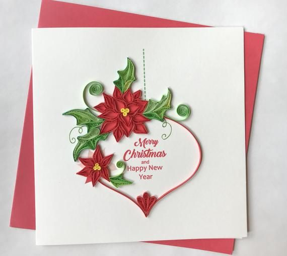 Christmas Card Quilling Greeting Card Handmade Greeting Etsy Paper Quilling Cards Easter Cards Handmade Quilling Christmas
