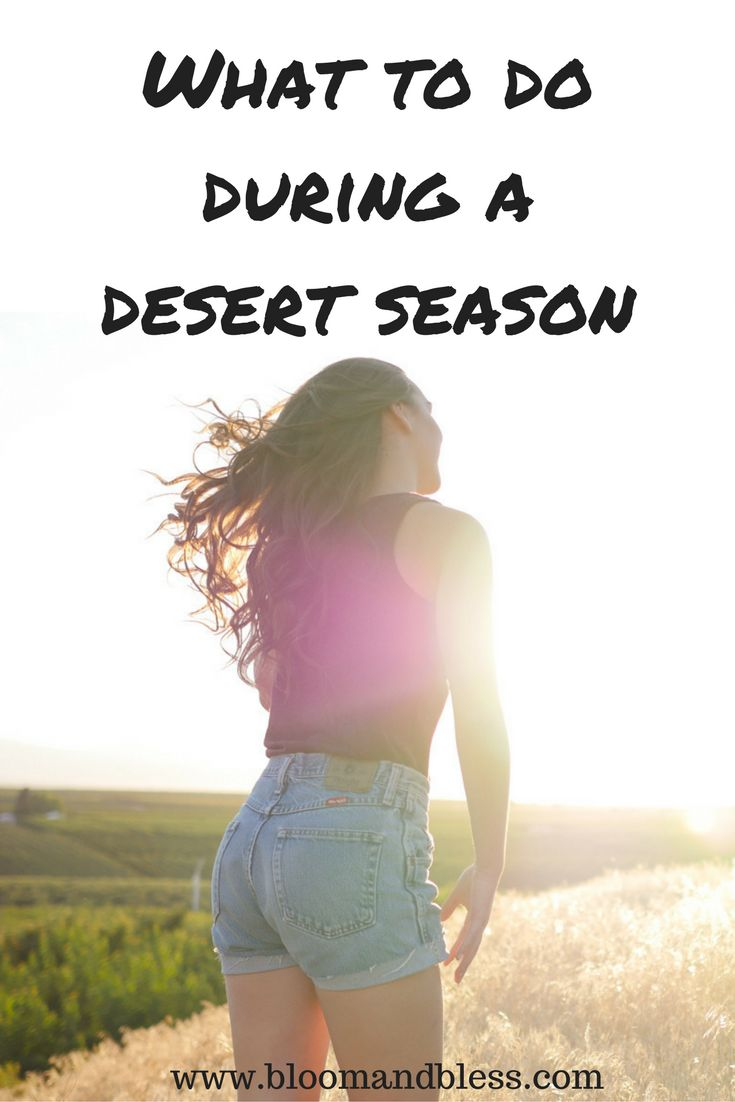 Are you going through a dry, desert season? Read this blog post to find out what to do during this season!