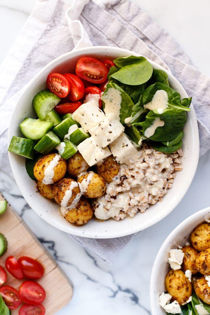 Vegane Mittelmeerschüssel   – Essen