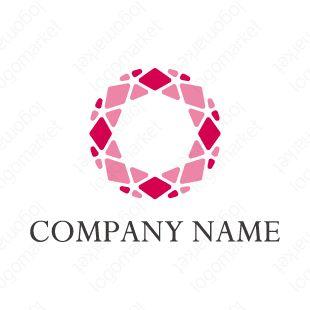 ロゴマーク「キラメキ」[ダイヤモンド/美/花](小売、物販、美容、医療、サービス)