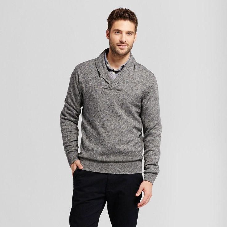 Men's Pullover Shawl Collar Sweater - Goodfellow & Co