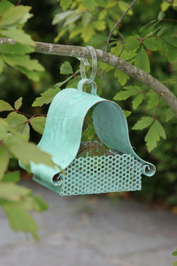 Patina copper bird feeder by CoppercraftDesign on Etsy, €44.00