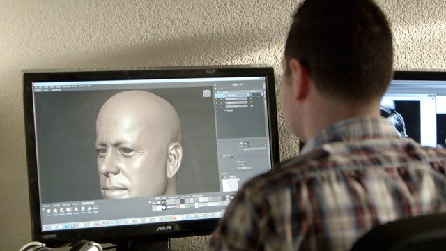 """Character artist Dan Roarty walks us through the process of creating one of his hyperrealistic 3D portraits, """"Happy Birthday, Nana,"""" a tribute to his late grandmother. Dan shows how he uses the sculpting tools in Mudbox and Maya to create the basic bust form and adds the layers upon layers of detail, texture, and tone with programs like Knald and Shave and a Haircut. Finally, he lights the scene and composites the final render passes in Photoshop to create a realistic ..."""