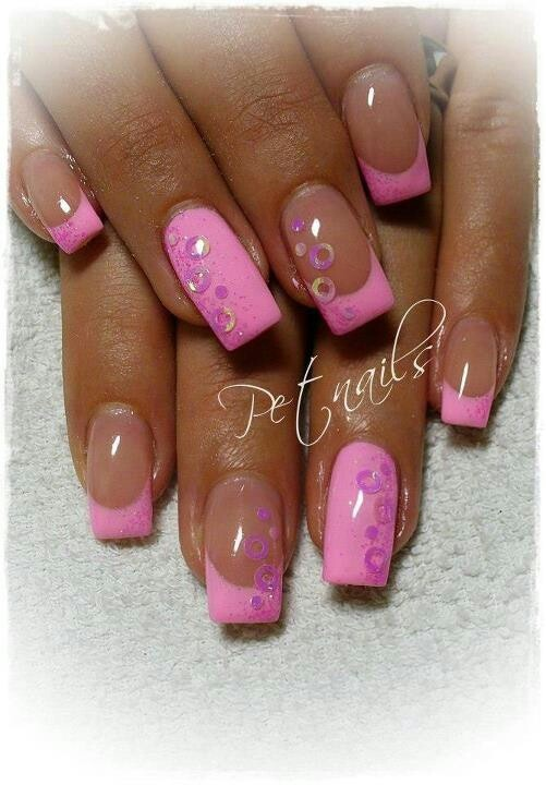 pink French tips | Nailed! | Pinterest