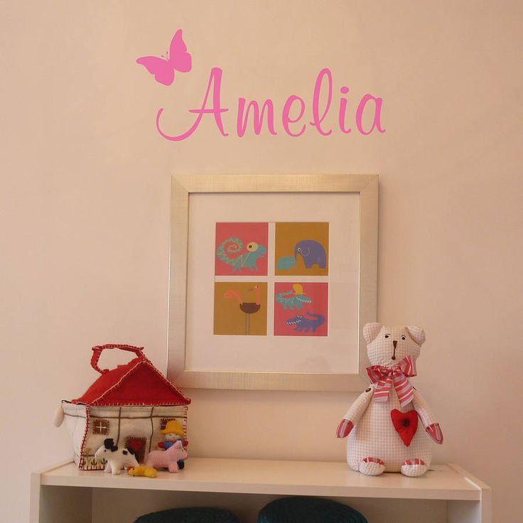 Personalised Butterfly Wall Sticker Part 49