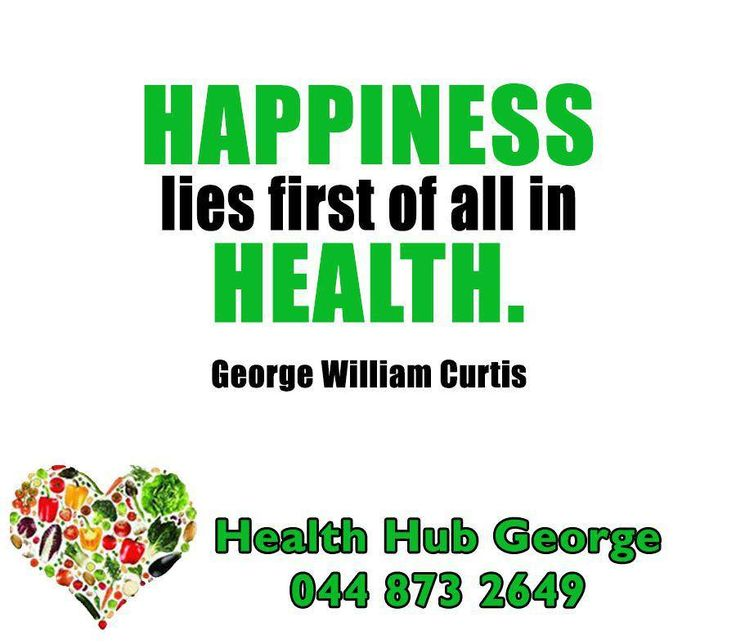 """""""Happiness lies first of all in health."""" -George William Curtis #HealthHub #SundayMotivation"""