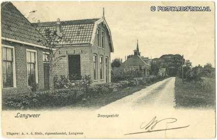 Straat in Langweer