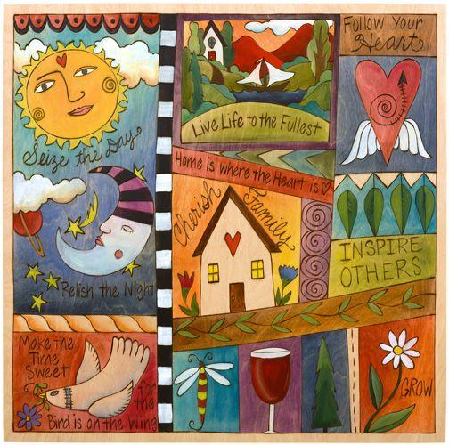 Love Sticks art. Large wall plaque