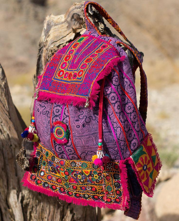 Coupon Code!! CHAKRA Back Pack BAckPack Hmong Batik banjara Embroidery Mirror…