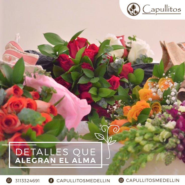 Flores usadas para los arreglos únicos del taller floral Capullitos en Medellín - Colombia.