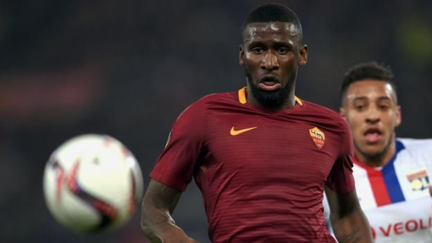 Antonio Rudiger helped Germany win the 2017 Confederations Cup in Russia Premier League champions Chelsea have signed Roma and Germany defender Antonio Rudiger on a five-year contract for a reported initial fee of £29m. Rudiger, 24, completed the transfer a week after helping Germany win the...