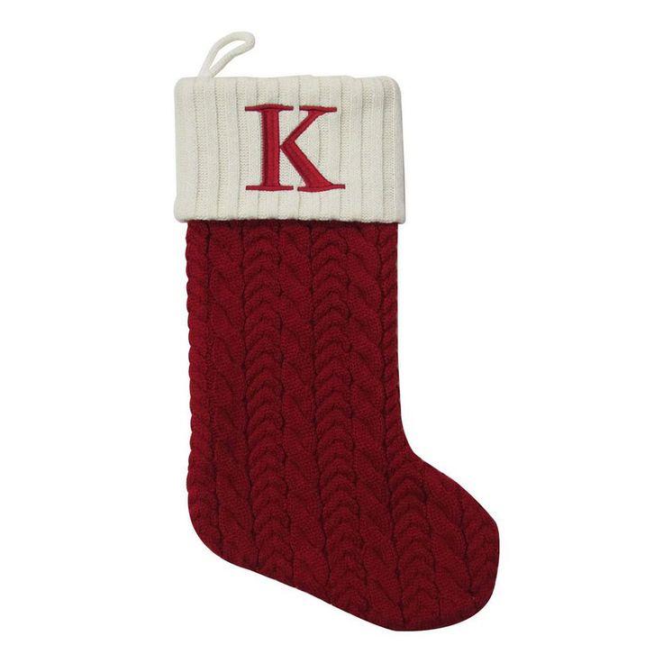 St. Nicholas Square® 21-in. Knit Monogram Christmas Stocking, Multicolor