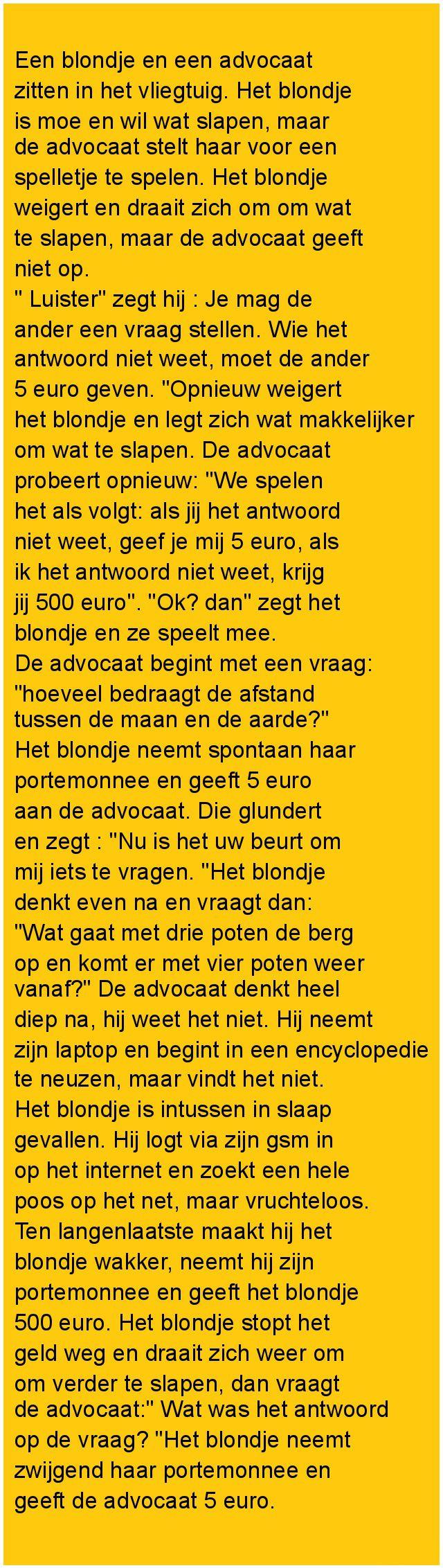 Een blondje en een advocaat - Zieer.nl